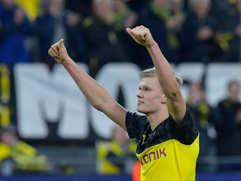 Erling Haaland Brace gives Borussia Dortmund first leg win over PSG