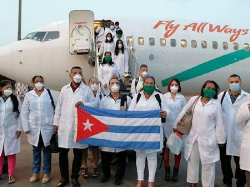 Cuban Doctors Lands in Italy to Fight Coronavirus