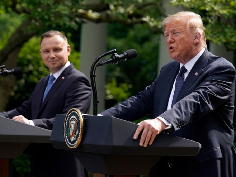 Trump says US moving troops to Poland after Duda meeting