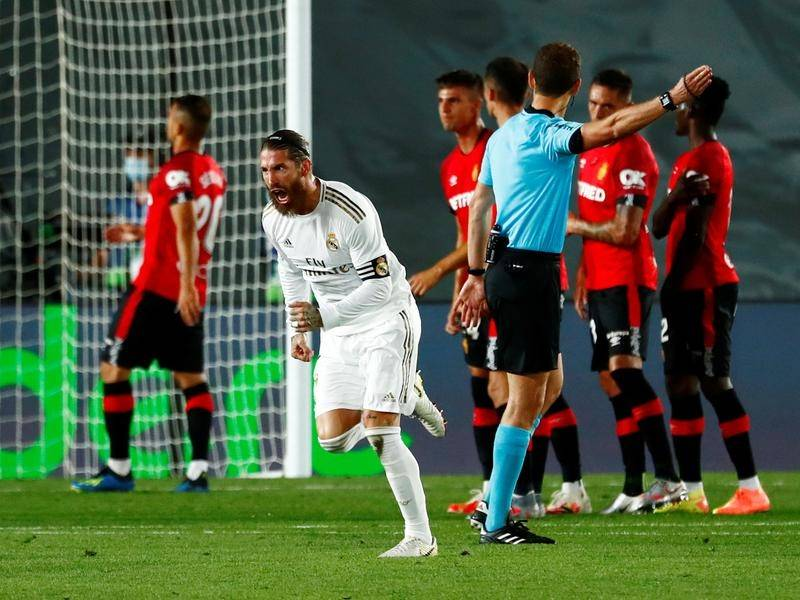 Ramos nets a spectacular free-kick as Real Madrid wins