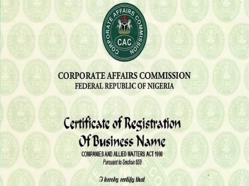 CAC Certificate to Contain Tax Identification Number