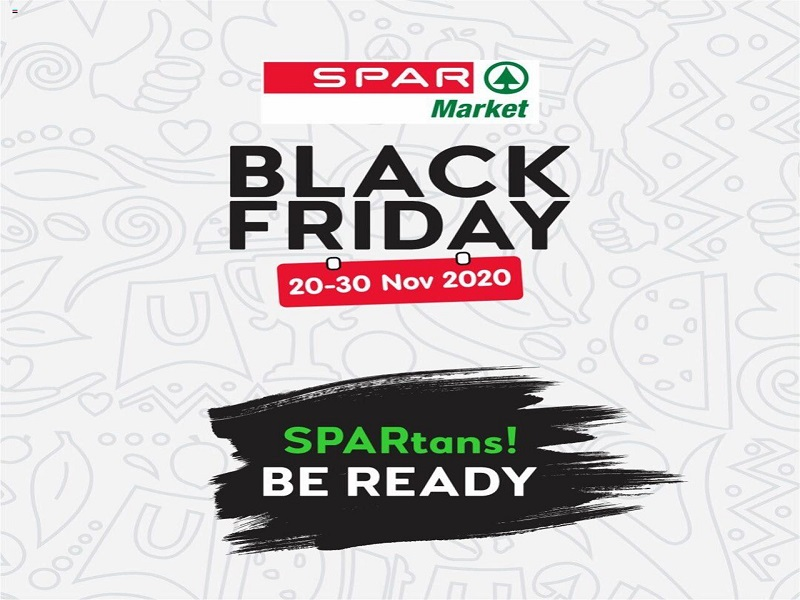SPAR Black Friday sales start on the 20th-30th of November 2020