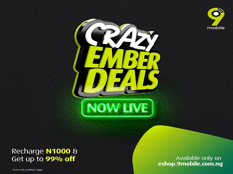 9mobile unveils Crazy Ember Deals with 99% discount