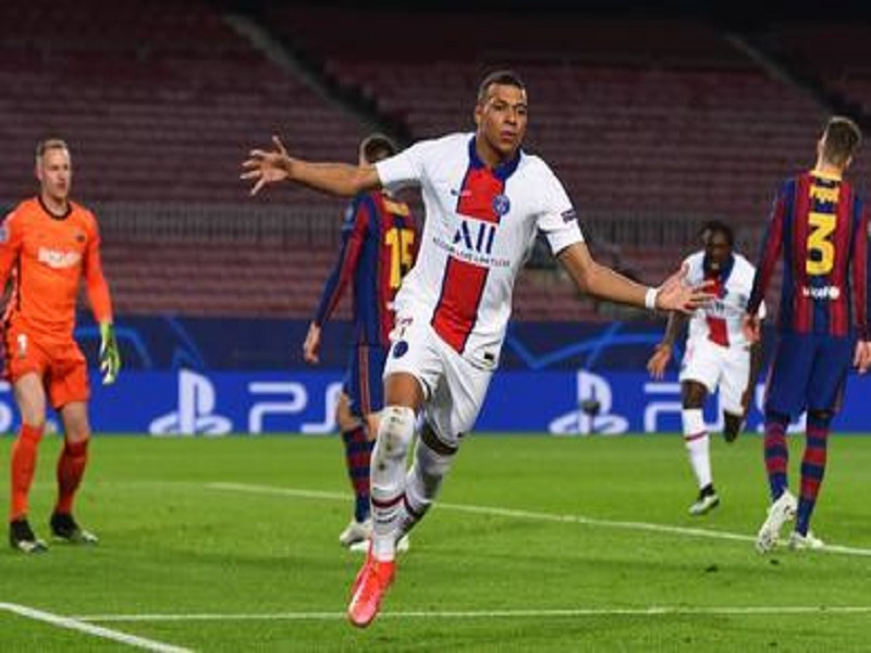 Kylian Mbappe scores hat-trick against Barcelona