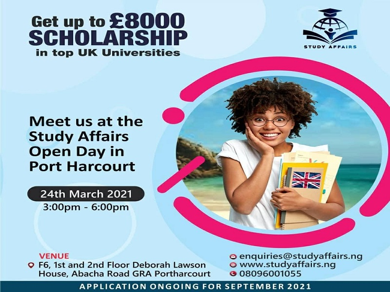 Attend UK open day in Portharcourt with Study Affairs
