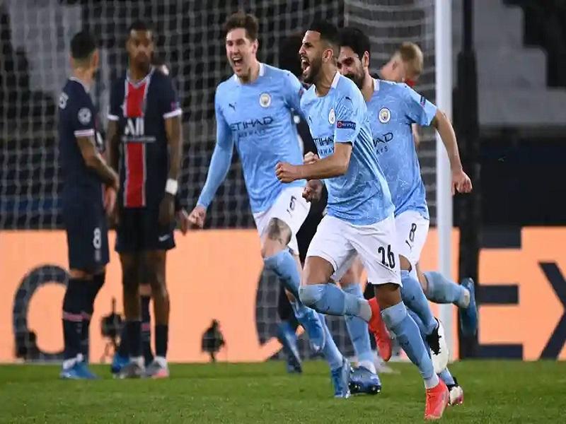 Manchester City beat PSG at Parc des Princes