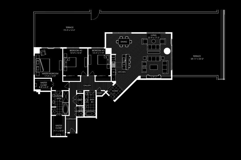 3 bed 2 bath 2418sqft apartment