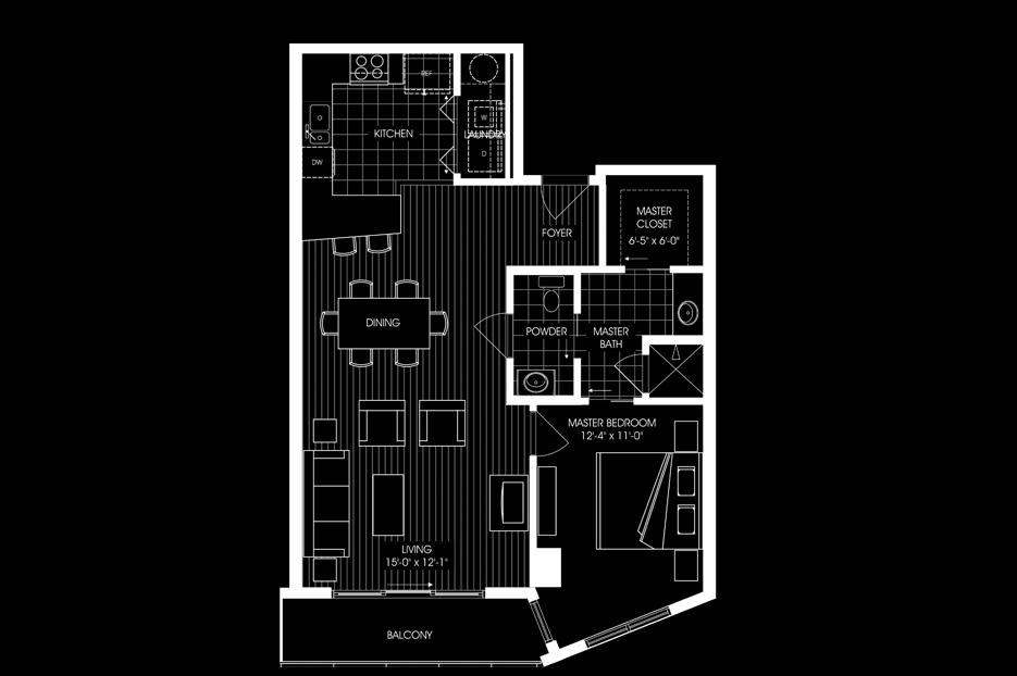 1 bed 1 bath 920sqft apartment