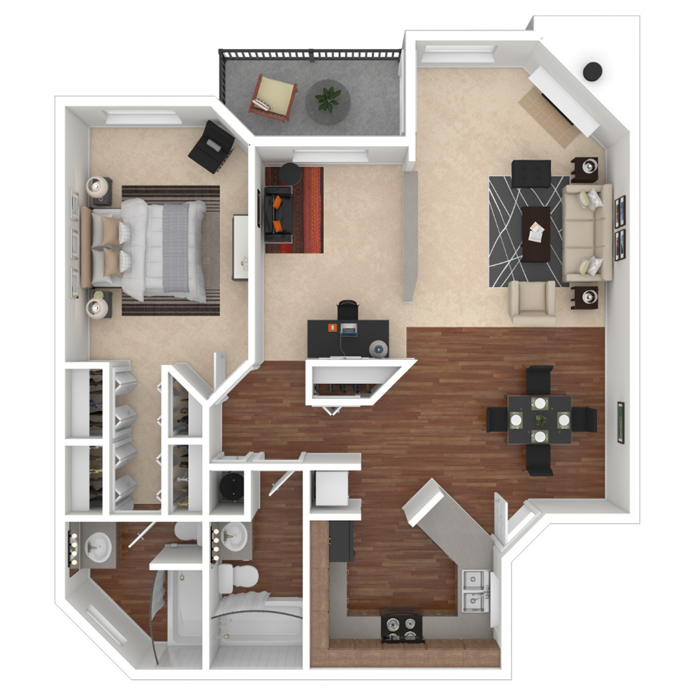 Spacious 1, 2 & 3 Bedroom Apartments & Townhomes in ...