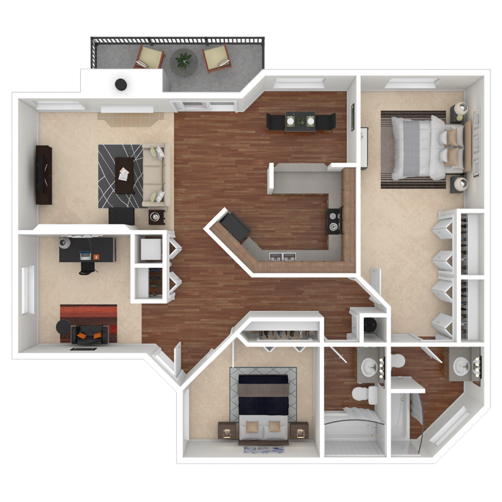 2 Bedroom Apartment 1165 sq.ft in Westminster, Colorado