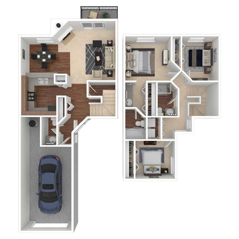 3 Bedroom 1349 sq.ft  apartments in Westminster, Colorado