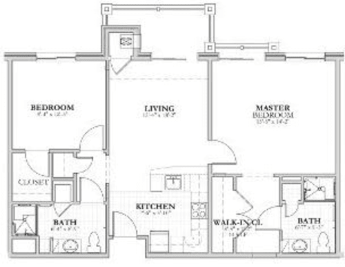 AD - 2 bed 2 bath