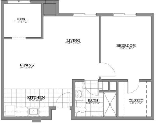 Bedroom Assited Floor Plan