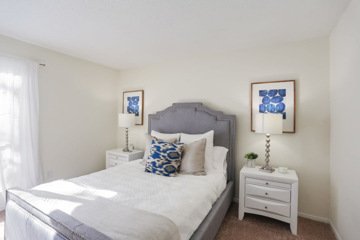 Model home's second bedroom at Reserve at Peachtree Corners in Norcross, Georgia