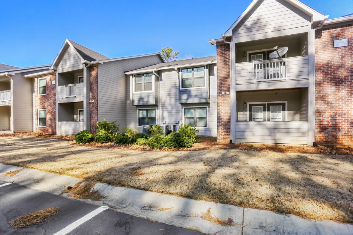 Exterior view of resident buildings at Reserve at Peachtree Corners in Norcross, Georgia
