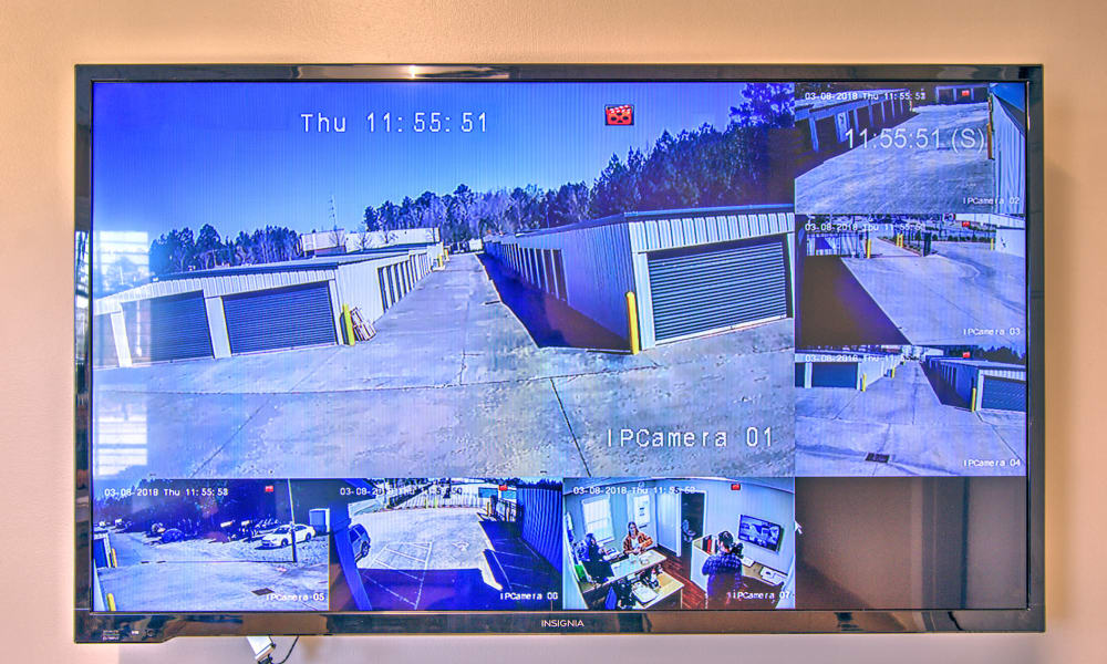 Surveillance monitor at Prime Storage in Marietta, Georgia