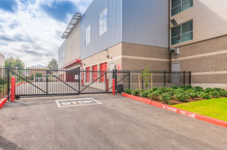 Gated entrance at StorQuest Self Storage in Tigard, OR