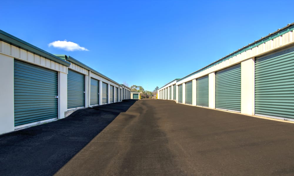 Wide driveways at Prime Storage in Marietta, Georgia
