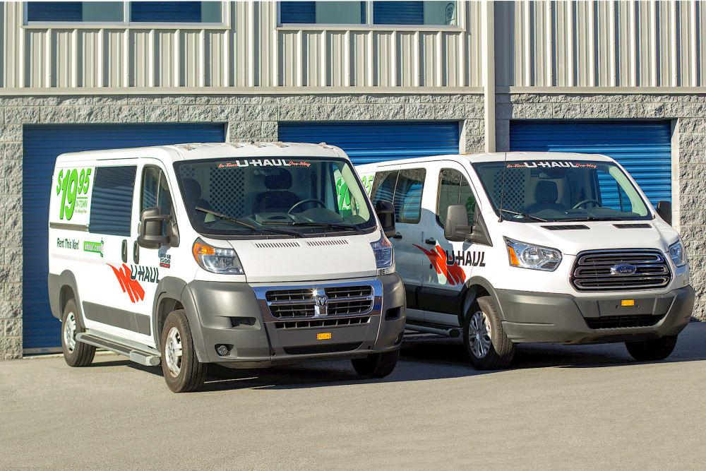 Rental vans at Rite Storage in Middletown, NY
