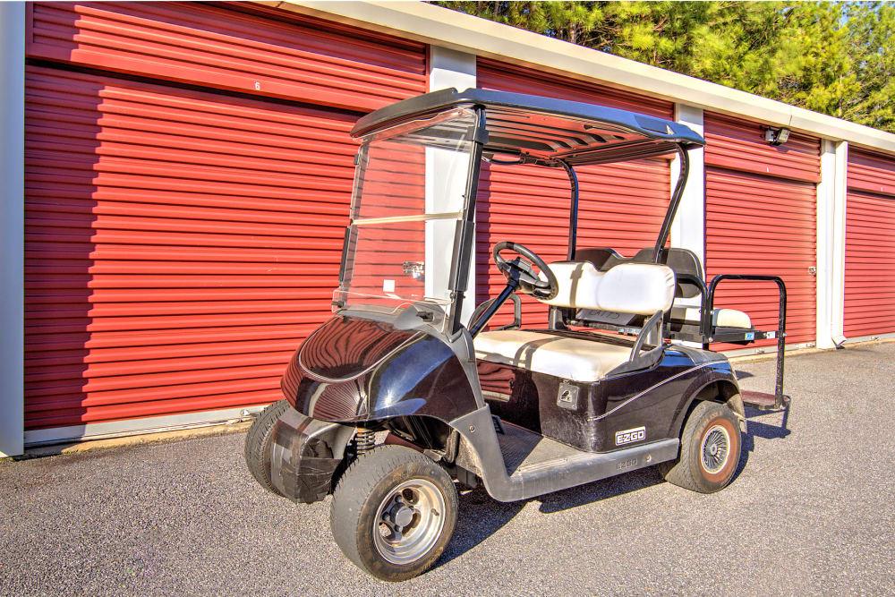 Prime Storage manager's cart in Acworth, Georgia