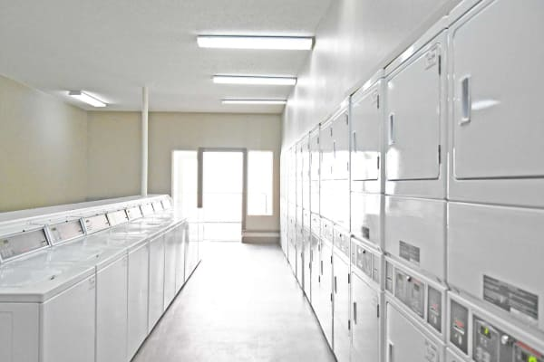 Large community laundry room at Reserve at Kirkwood in Cedar Rapids, Iowa