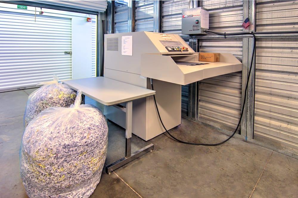 Industrial paper shedder at Williamsburg Storage in Williamsburg, VA