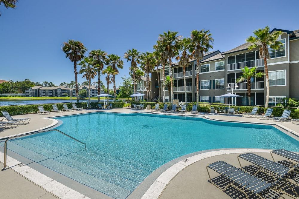 View of the pool at Ocean Park of Ponte Vedra in Jacksonville Beach, FL