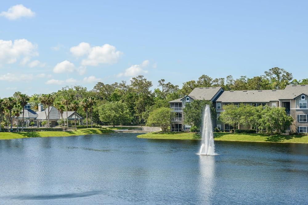 View of the lake at Ocean Park of Ponte Vedra in Jacksonville Beach, FL