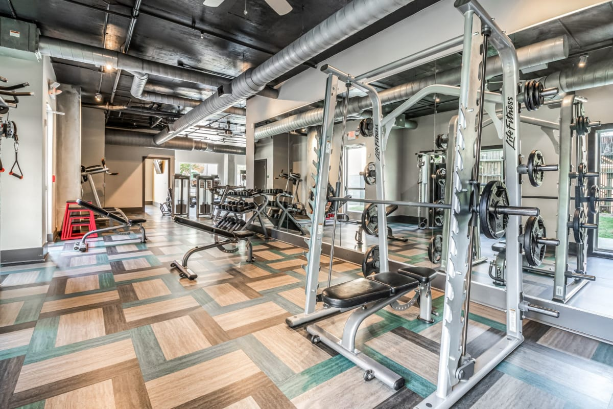 Fully equipped fitness center at Skyline West in Atlanta, Georgia