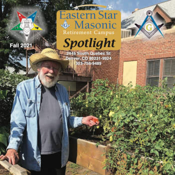 Senior man playing at Eastern Star Masonic Retirement Campus in Denver, CO