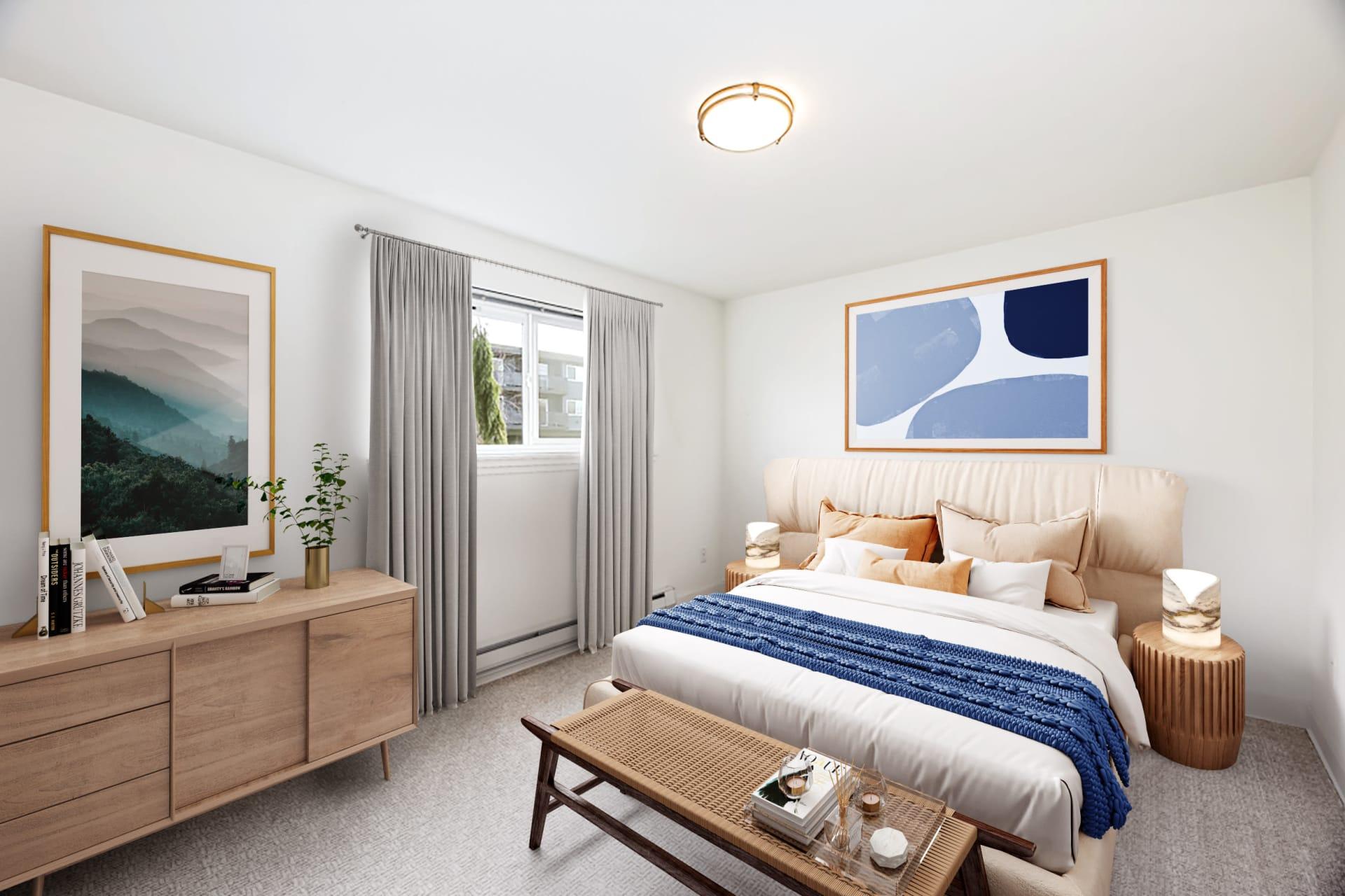 Sample Bedroom at Union 18 in Seattle, Washington