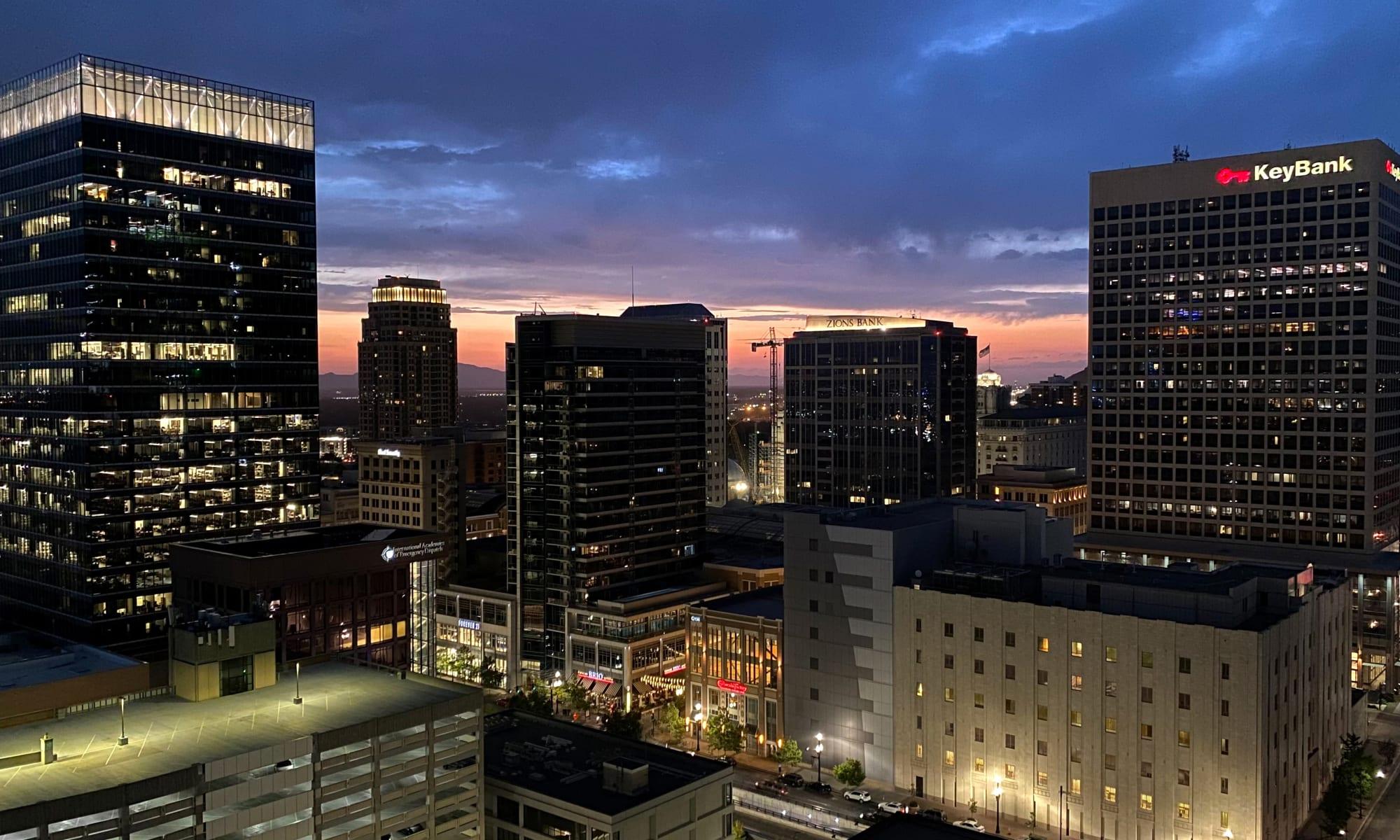 Twilight at Liberty SKY in Salt Lake City, Utah