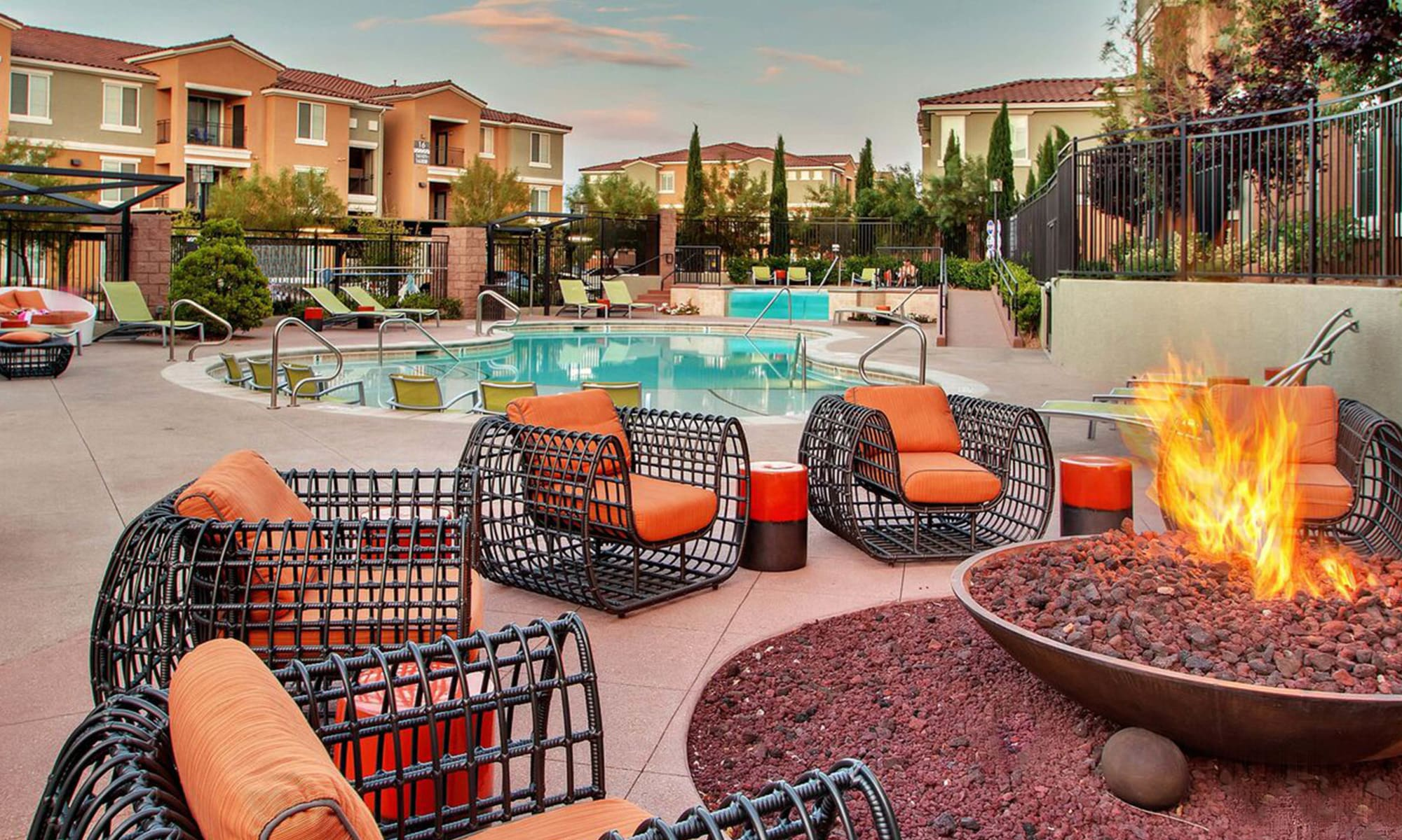 Our Apartments in Henderson, Nevada offer a Swimming Pool & Outdoor Fire Pit