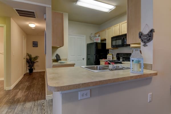 Fully equipped kitchen at Hillstone Ranch Apartments