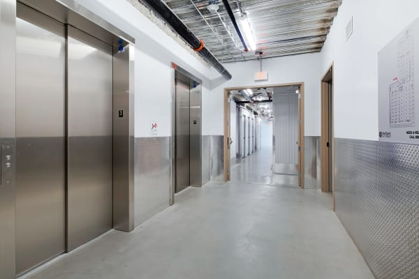Elevator access at Paramount self storage