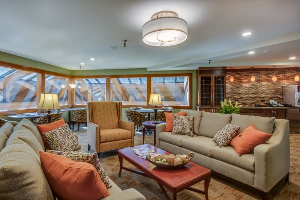 Lounge area at The Firs in Olympia, Washington