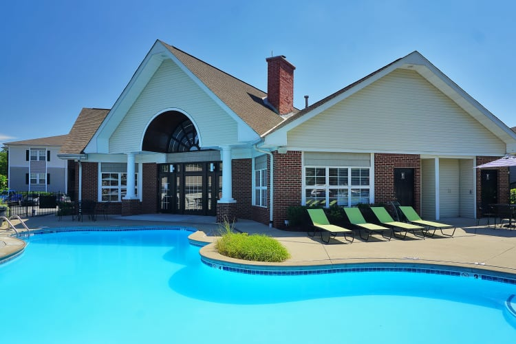 Beautiful swimming pool area with sundeck at Renaissance St. Andrews in Louisville, Kentucky