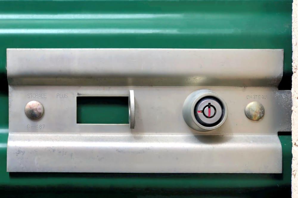 Key locks on storage units at Capital Self Storage in Hanover, Pennsylvania