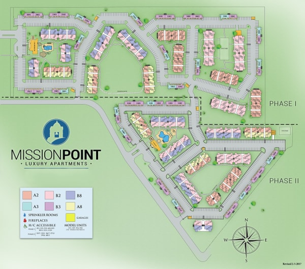 Site map for Mission Point Apartments in Moore, Oklahoma