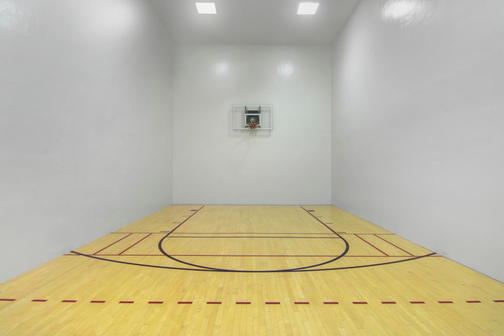 Indoor basketball court at Autumn Chase Apartments in Vancouver, Washington