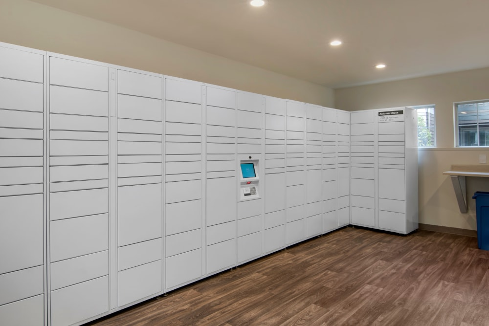24-hour package lockers at Autumn Chase Apartments in Vancouver, Washington
