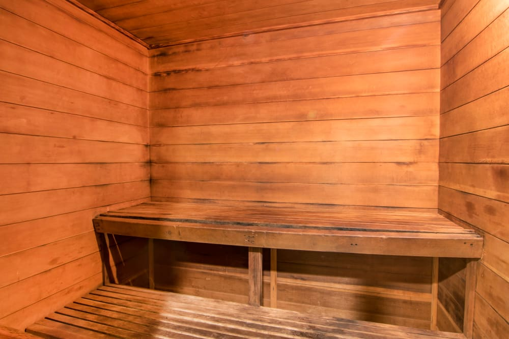 The sauna at Autumn Chase Apartments in Vancouver, Washington