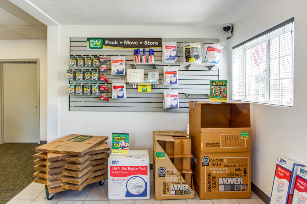 Storage Supplies Available at Metro Self Storage in Beach Park, IL