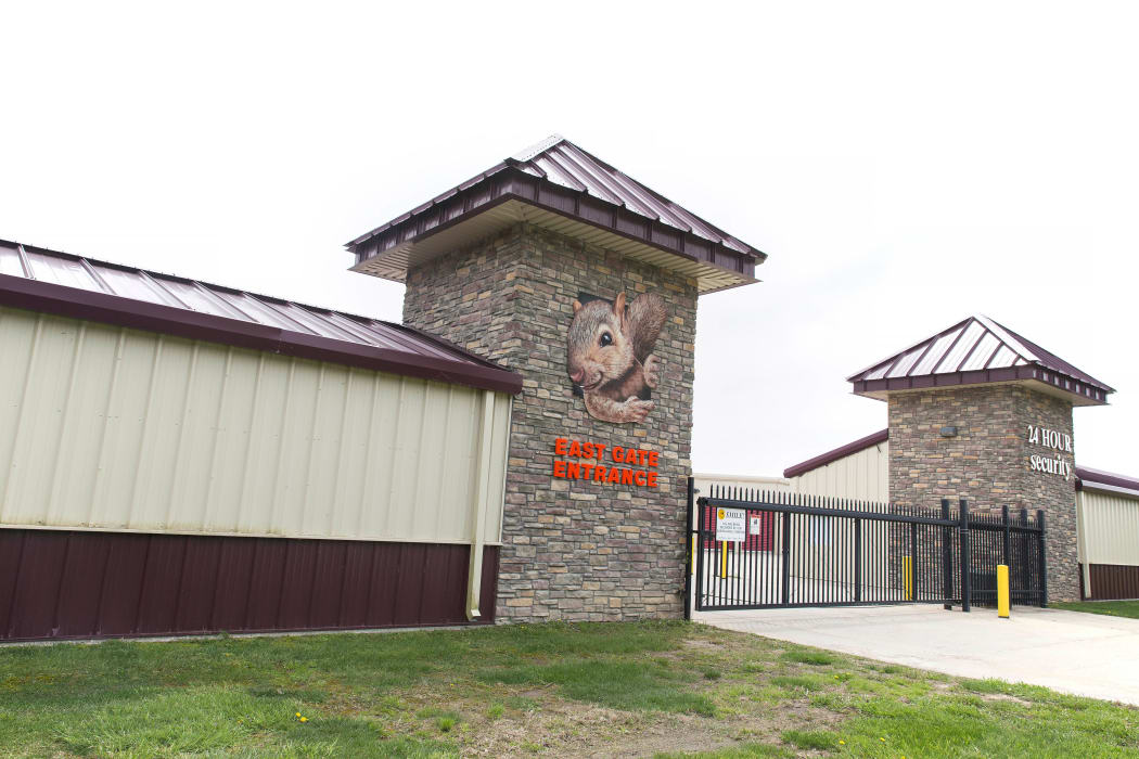 Exterior shot of Squirrel Storage Ames in Ames