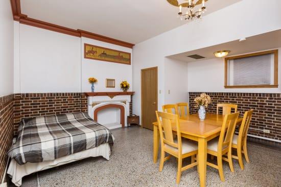 Studio living area at Concord & Castle in Des Moines, Iowa