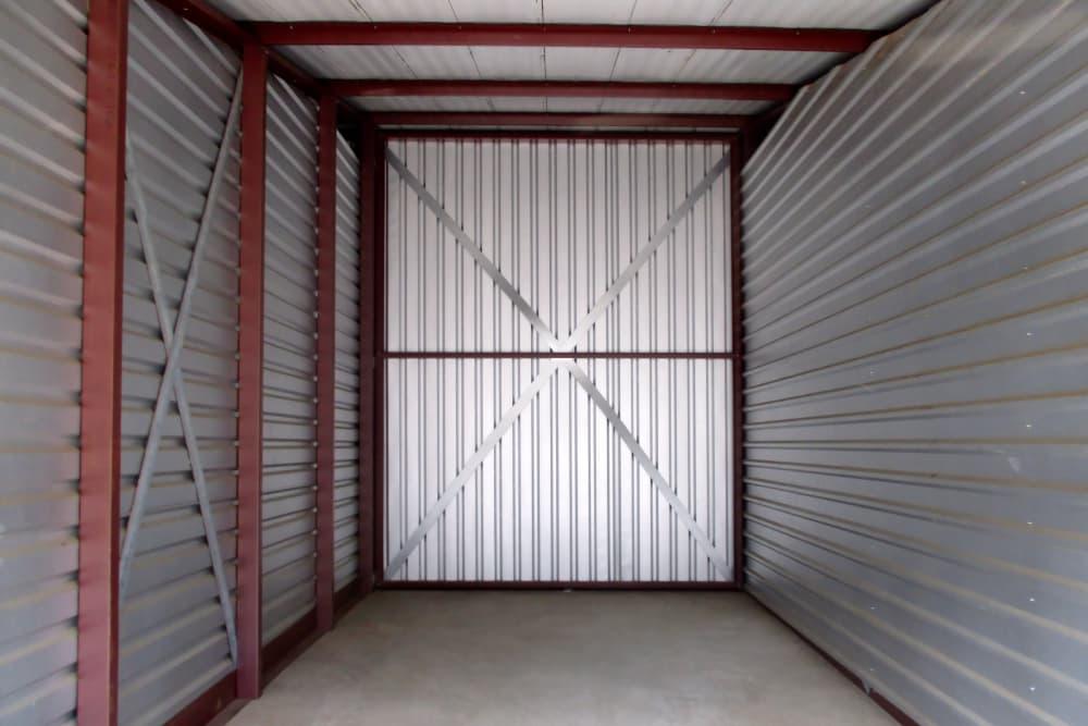 Interior of a storage unit at Prime Storage in Montpelier, VA