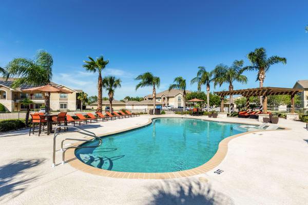 Enjoy a refreshing pool at Pavilions at Northshore in Portland, Texas