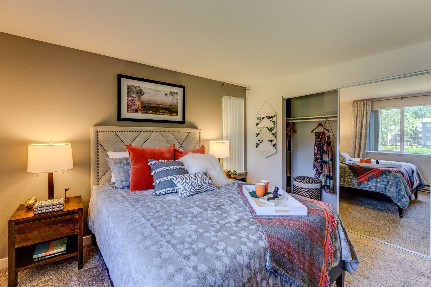 Spacious bedrooms at The Preserve at Forbes Creek in Kirkland, Washington