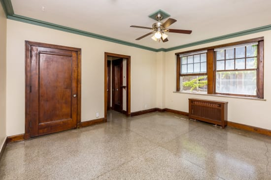Spacious living room at Concord & Castle in Des Moines, Iowa