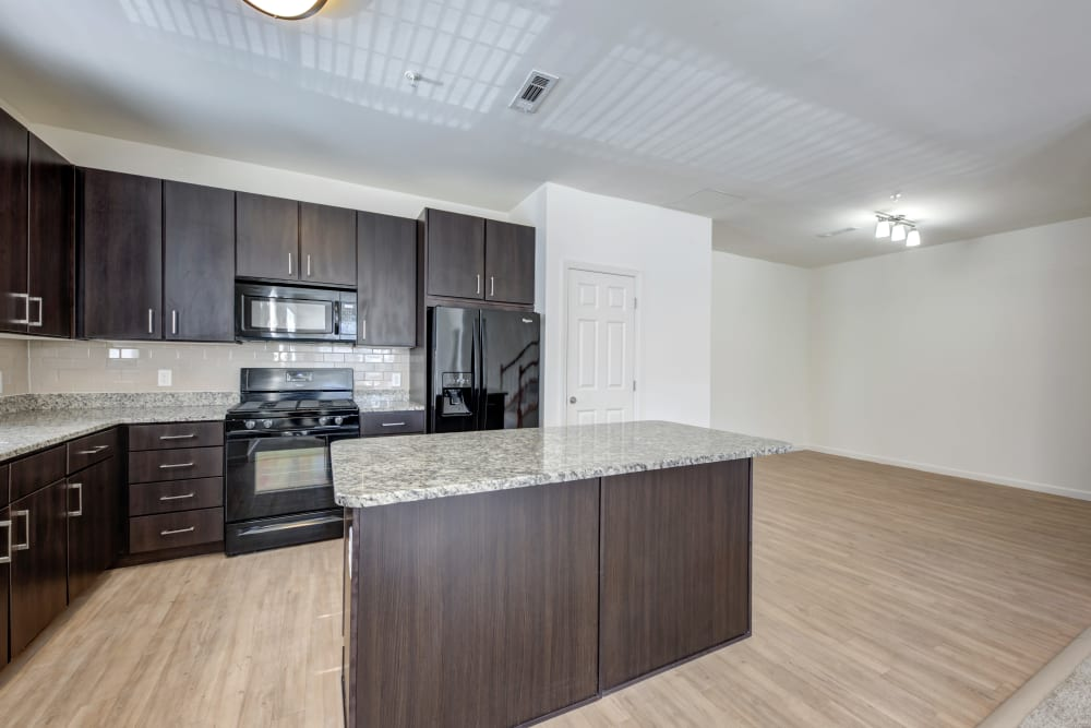 Spacious kitchen at apartments in Canton, Massachusetts